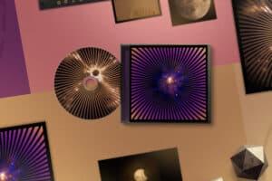 Komplett skivomslag inklusive illustrationer skapade åt Andromeda Music och Ralph Lundsten