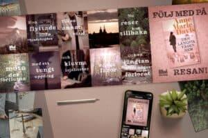Stillbilder från boktrailer för Den Längsta Vägen Hem skriven av Anne-Marie Davis.